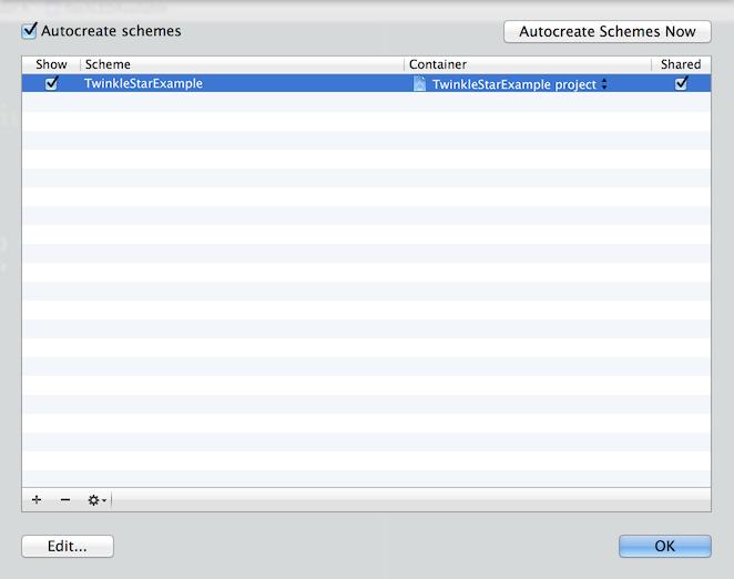 Xcode's Manage Schemes